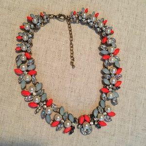 Sparkling Sage collar necklace